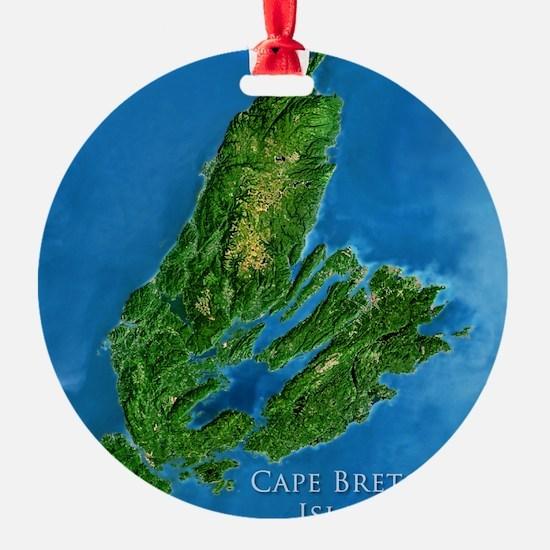 CB biggest w water blurred + label Ornament