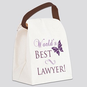 Butterfly_Lawyer Canvas Lunch Bag