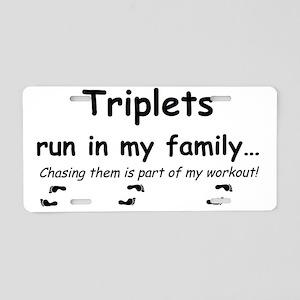 triplet run Aluminum License Plate