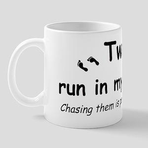 twins run Mug