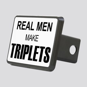 real men triplets Rectangular Hitch Cover