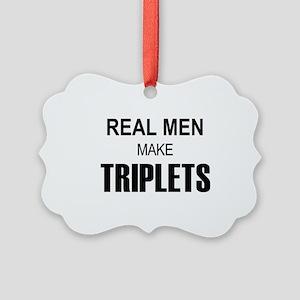 real men triplets Picture Ornament