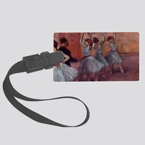 Degas dance teacher with dancers Large Luggage Tag