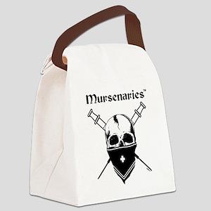 MursenariesBlackonWhiteforCP Canvas Lunch Bag