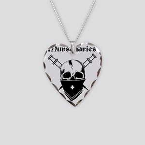 MursenariesBlackonWhitefor Necklace Heart Charm