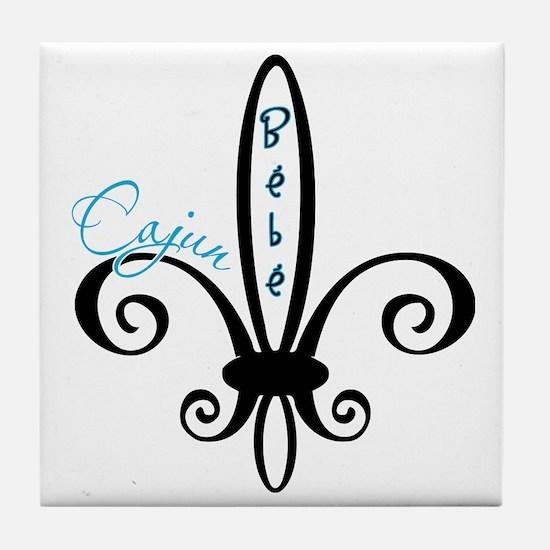 cajunbebe_blue Tile Coaster