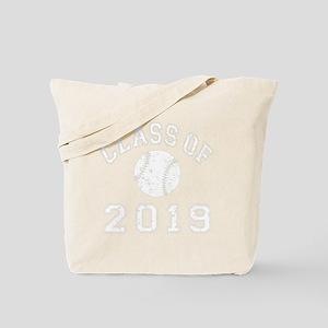 CO2019 Baseball White Distressed Tote Bag