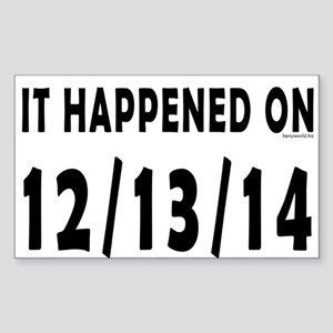 12/13/14 Sticker (Rectangle 10 pk)