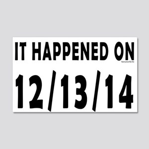 12/13/14 20x12 Wall Decal