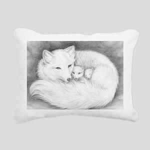 Hor-sign-Arctic Fox Fami Rectangular Canvas Pillow