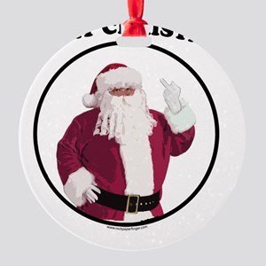 merry-xmas-light Round Ornament