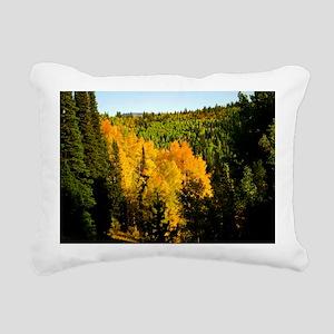 Pine tree Aspen canyon Rectangular Canvas Pillow
