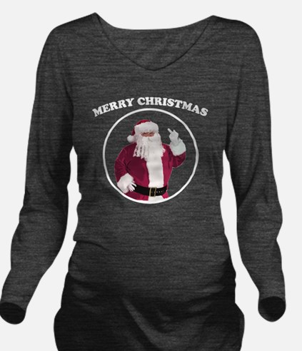 merry-xmas-dark Long Sleeve Maternity T-Shirt