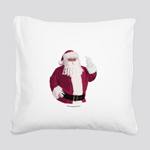 merry-xmas-dark Square Canvas Pillow