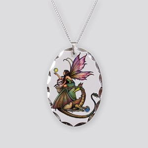 Dragons Orbs transparent backg Necklace Oval Charm