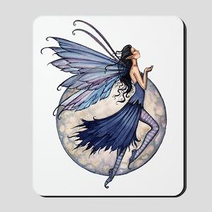 Midnight Blue transparent background zaz Mousepad