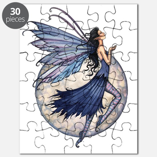 Midnight Blue transparent background zazzle Puzzle