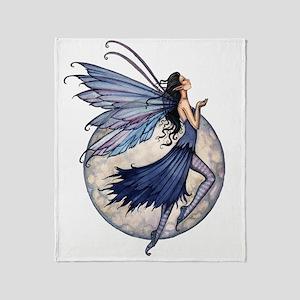 Midnight Blue transparent background Throw Blanket