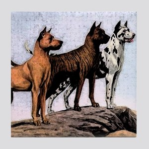 3 great danes mens wallet copy Tile Coaster