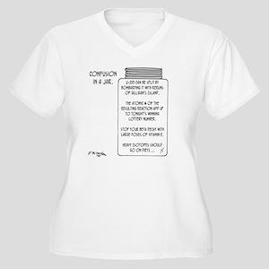 6043_physics_cart Women's Plus Size V-Neck T-Shirt