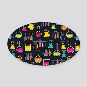 science_lab_toiletry Oval Car Magnet