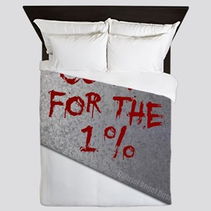 Cure for the one percent Queen Duvet