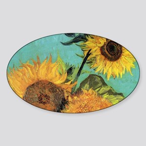 Clutch VG 3 Sunflowers Sticker (Oval)