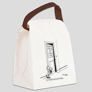 1192_computer_cartoon Canvas Lunch Bag