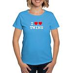 I (heart) (heart) TWINS Women's Dark T-Shirt