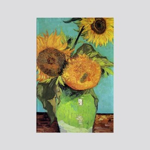 443 VG 3 Sunflowers Rectangle Magnet