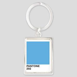 pantone292 Portrait Keychain
