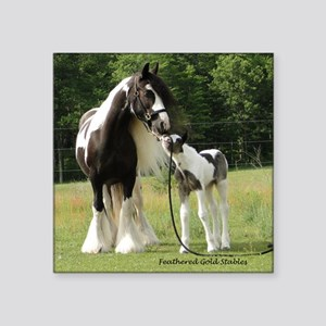 "Dated with foal final Square Sticker 3"" x 3"""