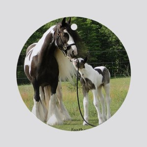 Dated with foal final Round Ornament