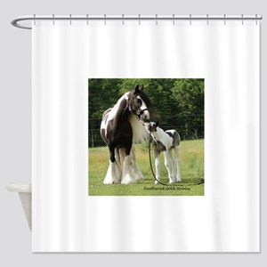 Dated with foal final Shower Curtain