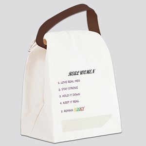 real women t Canvas Lunch Bag