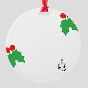 ho-ho-dark Round Ornament