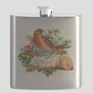 Vegan Robin Bird Christmas Flask