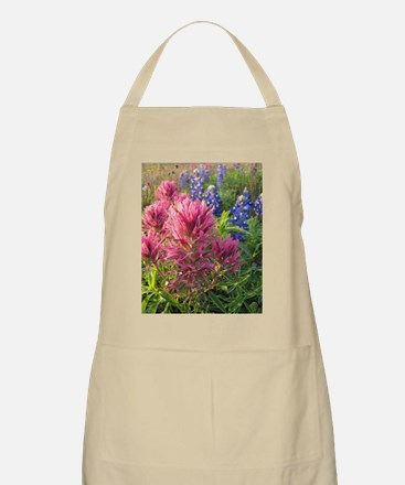 texas bluebonnets and pinks Apron