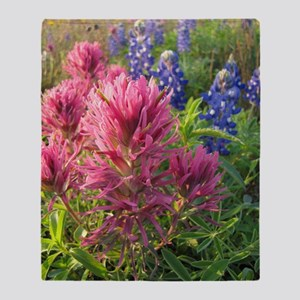 texas bluebonnets and pinks Throw Blanket
