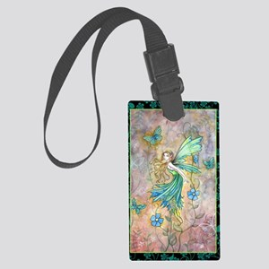 enchanted garden journal cp Large Luggage Tag