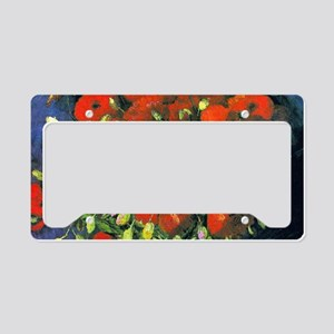 Clutch VG Poppies License Plate Holder