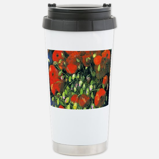Clutch VG Poppies Stainless Steel Travel Mug