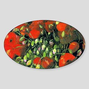 Clutch VG Poppies Sticker (Oval)