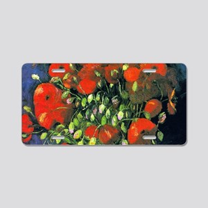 Clutch VG Poppies Aluminum License Plate