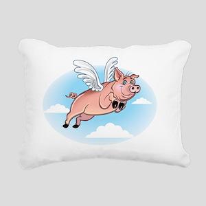 flying_pig_fly Rectangular Canvas Pillow