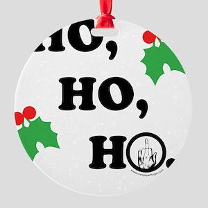 ho-ho-light Round Ornament