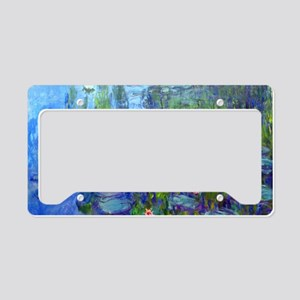 Laptop Monet WLilies License Plate Holder
