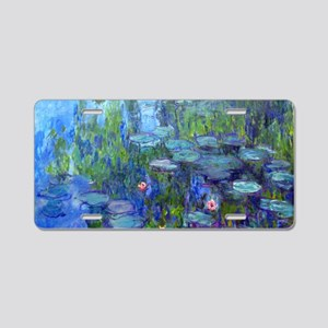 Laptop Monet WLilies Aluminum License Plate