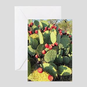 texas prickly pear Greeting Card