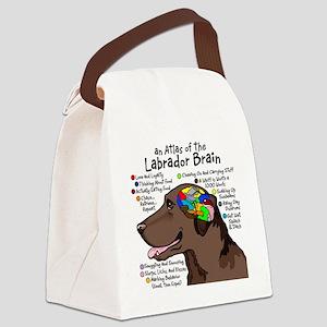 choclabbrain1a Canvas Lunch Bag
